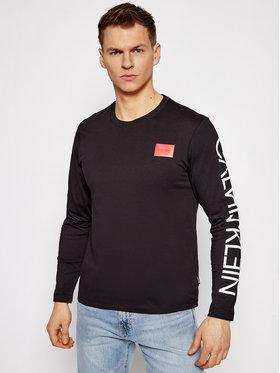 Calvin Klein Calvin Klein Longsleeve Text Reversed Logo K10K106492 Czarny Regular Fit