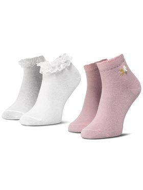 Mayoral Mayoral Set di 2 paia di calzini lunghi da bambini 10738 Rosa