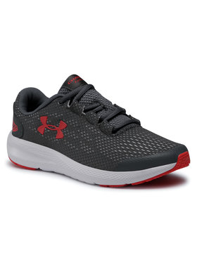 Under Armour Under Armour Boty Ua Gs Charged Pursuit 2 3022860-102 Šedá
