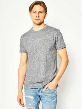 Tommy Jeans Tommy Jeans T-Shirt Slub Tee DM0DM07809 Szary Regular Fit