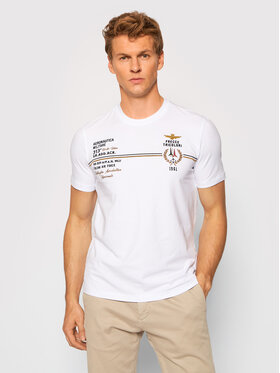 Aeronautica Militare Aeronautica Militare T-Shirt 212TS1892J469 Biały Relaxed Fit