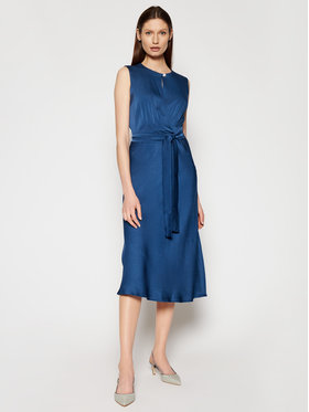 Marella Marella Koktejlové šaty Entry 32213211 Modrá Slim Fit