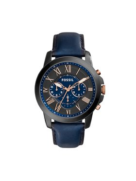 Fossil Fossil Ρολόι Grant Chrono FS5061IE Σκούρο μπλε