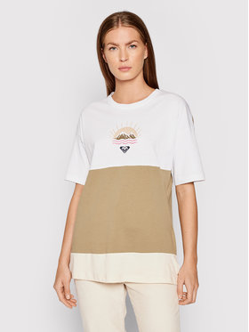 Roxy Roxy Marškinėliai Addicted To Joy ERJZT05149 Žalia Loose Fit