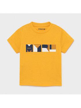 Mayoral Mayoral T-Shirt 106 Żółty Regular Fit