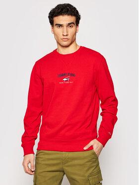 Tommy Jeans Tommy Jeans Bluza Tjm Timeless DM0DM10193 Czerwony Regular Fit