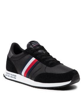 Tommy Hilfiger Tommy Hilfiger Sneakersy Runner Lo Leather Mix FM0FM03736 Czarny