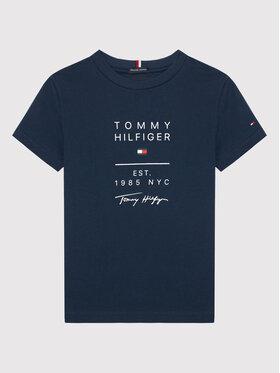 Tommy Hilfiger Tommy Hilfiger T-Shirt Graphic KB0KB06306 M Granatowy Regular Fit