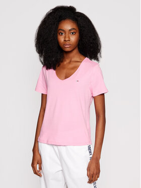 Tommy Jeans Tommy Jeans T-Shirt Tjw Jersey DW0DW09195 Rosa Slim Fit