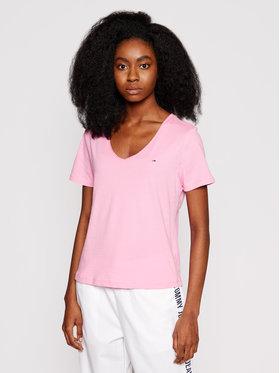 Tommy Jeans Tommy Jeans T-Shirt Tjw Jersey DW0DW09195 Różowy Slim Fit
