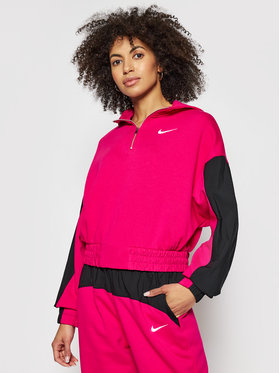 Nike Nike Суитшърт Nike Sportswear Icon Clash Mix CZ8164 Розов Oversized Fit