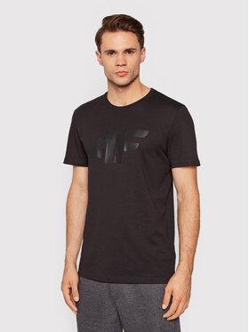 4F 4F T-Shirt TSM353 Czarny Regular Fit