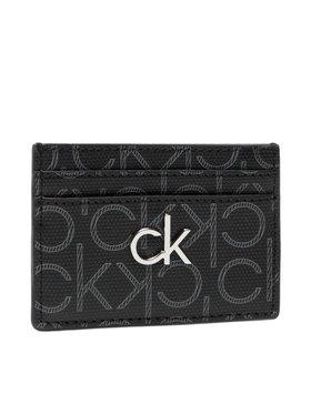 Calvin Klein Calvin Klein Bankkártya tartó Cardholder Monogram K60K6083300 Fekete
