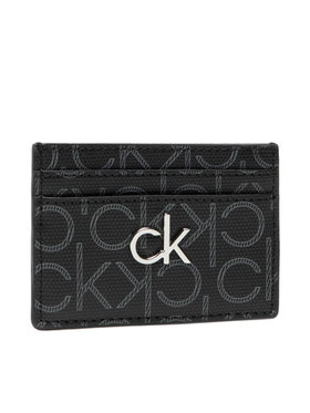 Calvin Klein Calvin Klein Kreditinių kortelių dėklas Cardholder Monogram K60K6083300 Juoda