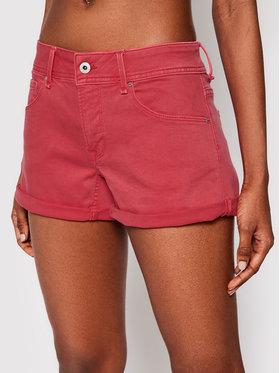 Pepe Jeans Pepe Jeans Szorty jeansowe Siouxie PL800685YE4 Czerwony Regular Fit