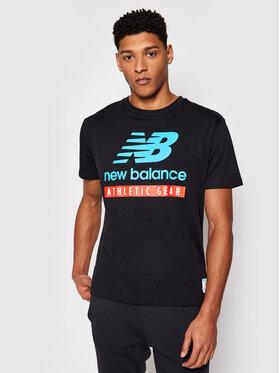 New Balance New Balance Marškinėliai MT11517BK Juoda Athletic Fit
