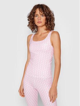 Guess Guess Marškinėliai Caitlin O1BA23 MC03W Rožinė Regular Fit