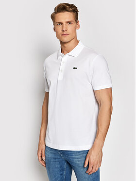 Lacoste Lacoste Тениска с яка и копчета YH4801 Бял Slim Fit