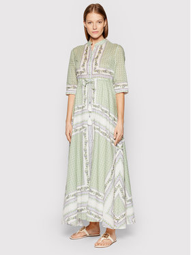 Tory Burch Tory Burch Sukienka letnia Printed 83310 Zielony Regular Fit