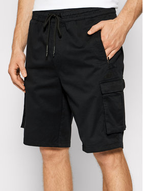 4F 4F Bavlnené šortky H4L21-SKMC010 Čierna Regular Fit
