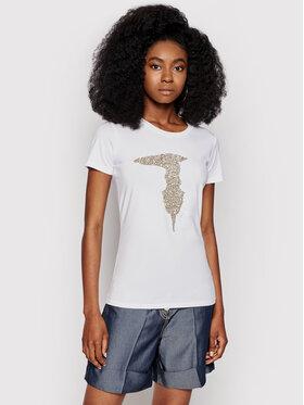 Trussardi Trussardi T-Shirt 56T00363 Biały Slim Fit