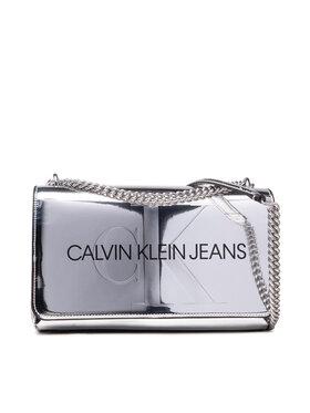 Calvin Klein Jeans Calvin Klein Jeans Kabelka Sculpted Conv E/W Flap Silver B K60K608842 Stříbrná