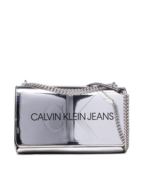 Calvin Klein Jeans Calvin Klein Jeans Torebka Sculpted Conv E/W Flap Silver B K60K608842 Srebrny