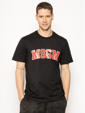 MSGM MSGM T-shirt 2840MM86 207098 Noir Regular Fit