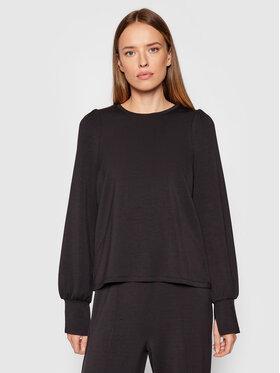 Vero Moda Vero Moda Bluza Silky 10257425 Czarny Regular Fit