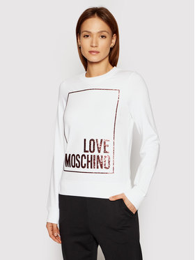 LOVE MOSCHINO LOVE MOSCHINO Mikina W630220E 2180 Bílá Regular Fit