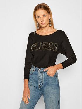 Guess Guess Μπλουζάκι W0BR0M Z2NQ0 Μαύρο Regular Fit