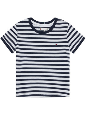 Tommy Hilfiger Tommy Hilfiger T-Shirt Essential Stripe KG0KG05766 M Granatowy Regular Fit