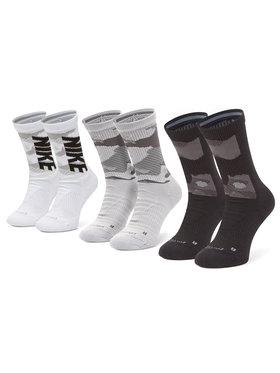 NIKE NIKE Σετ 3 ζευγάρια ψηλές κάλτσες unisex CW0780-904 Μαύρο