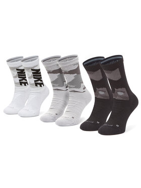 Nike Nike Súprava 3 párov vysokých ponožiek unisex CW0780-904 Čierna