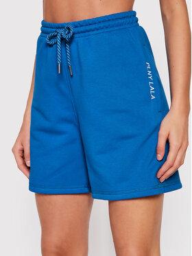PLNY LALA PLNY LALA Sportiniai šortai Shorty PL-SI-SH-00007 Mėlyna Loose Fit