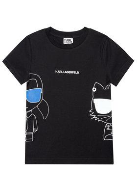 KARL LAGERFELD KARL LAGERFELD T-shirt Z25275 D Noir Regular Fit