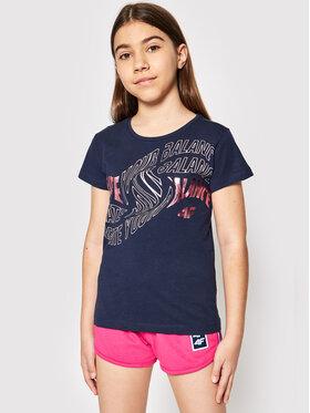 4F 4F T-shirt JTSD001B Blu scuro Regular Fit