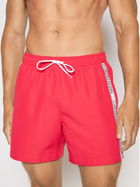 Calvin Klein Swimwear Calvin Klein Swimwear Σορτς κολύμβησης Drawstring KM0KM00558 Ροζ Regular Fit