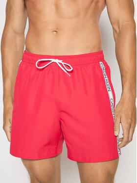 Calvin Klein Swimwear Calvin Klein Swimwear Szorty kąpielowe Drawstring KM0KM00558 Różowy Regular Fit