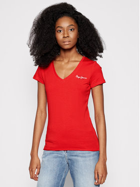 Pepe Jeans Pepe Jeans T-shirt Bleu PL504820 Rosso Slim Fit