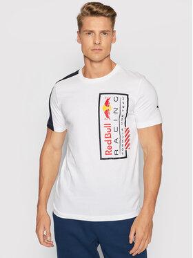 Puma Puma T-Shirt Logo 59622103 Biały Regular Fit