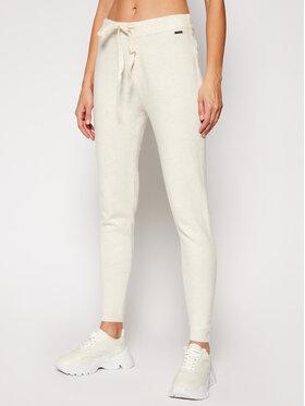 Guess Guess Bavlnené nohavice Tania W0RR10 R2QA0 Béžová Regular Fit