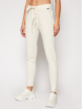 Guess Guess Pantaloni din material Tania W0RR10 R2QA0 Bej Regular Fit