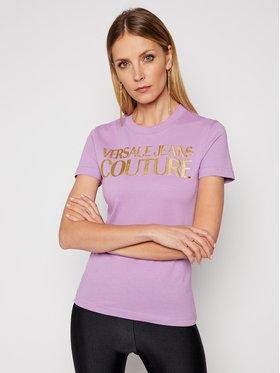 Versace Jeans Couture Versace Jeans Couture Тишърт B2HWA7TB Виолетов Slim Fit