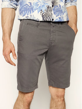 Pierre Cardin Pierre Cardin Szorty materiałowe 3465/2040 Szary Tailored Fit