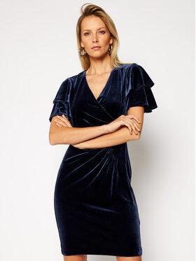 DKNY DKNY Коктейлна рокля DD0HF669 Тъмносин Slim Fit