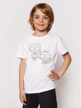 KARL LAGERFELD KARL LAGERFELD T-shirt Z25273 S Bijela Regular Fit