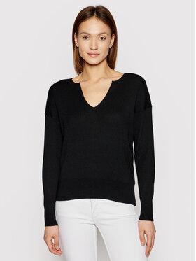 Calvin Klein Calvin Klein Sweter Logo Open Neck K20K202907 Czarny Regular Fit