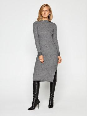 Calvin Klein Calvin Klein Rochie tricotată Ls Roll Neck Knitted K20K202289 Gri Slim Fit