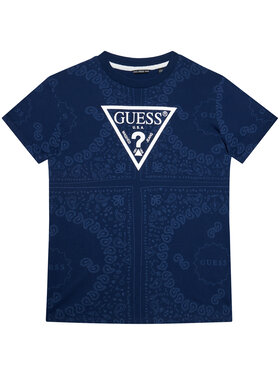 Guess Guess Marškinėliai L1GI02 K8HM0 Tamsiai mėlyna Regular Fit